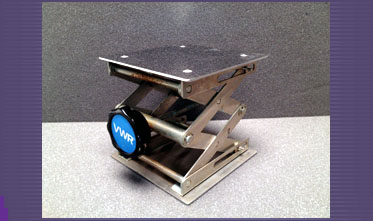 SOLD - Used VWR Lab Jack 6x6 Stainless Steel Available from